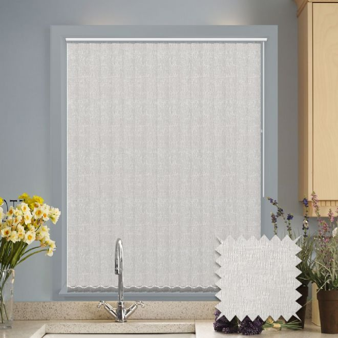 Vertical blinds - Made to Measure vertical blind in Verona White - Just Blinds